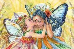 Sisters Art Print Fairy sisters Best friends fantasy watercolor on paper Art Aquarelle, Watercolor Art, Kobold, Sisters Art, Butterfly Cross Stitch, Unicorns And Mermaids, Butterfly Fairy, Baby Fairy, Illustration