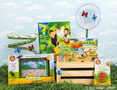 Unleash some serious fun with a playground made for bugs, a farm full of ants, and a garden of live butterflies that you grow and then set free.
