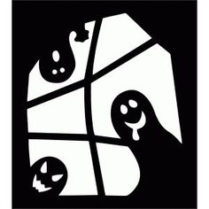 Image result for halloween window silhouettes ghost