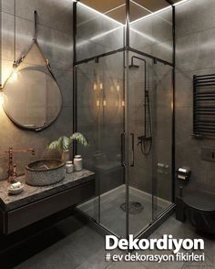 This morning I am sharing some industrial style bathroom inspiration from I just love the tap and sink! Whats your thoughts? Best Bathroom Designs, Best Kitchen Designs, Modern Bathroom Design, Bathroom Interior, Modern Design, Dark Bathrooms, Amazing Bathrooms, Small Bathroom, Modern Bathrooms