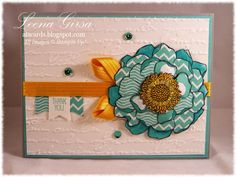 A La Cards: Blended Paperpieced Bloom