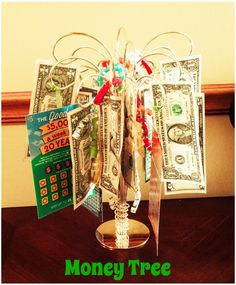 "A ""money tree"". A great idea for group gifts. You can use ..."