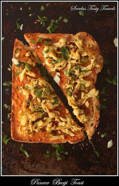 Paneer (Indian Cheese) Toast, step by step pics. Will make you a fan if you are not already of Paneer #vegeterian #recipe