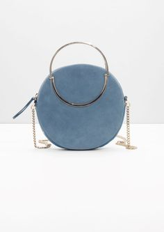 & Other Stories image 1 of Small Leather Circle Bag in Blue