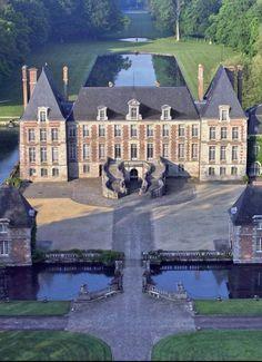 Château de Courances, Essonne, Île de France.
