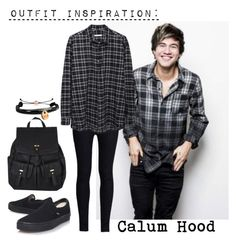 """""""outfit inspiration: calum hood (5sos)"""" by stxphvnixa ❤ liked on Polyvore"""