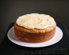Italian lemon ricotta cake with mascarpone
