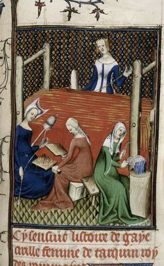 Gaia Caecilia or Tanaquil at her loom, while women spin and card wool. From…