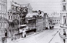"""""""Construction of a tenement in Lottumstraße (""""Bau eines Mietshauses in der Lottumstraße"""") 1871  Deutsch: """"Bau eines Mietshauses in der Lottumstraße"""" 1871  Friedrich Wilhelm Klose (1804–1863)"""