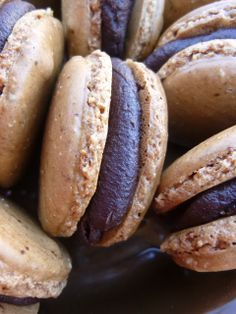 Espresso Macarons with Chocolate Rum Ganache Filling