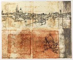Victoria Crowe - Printmaker at the Scottish Gallery, Edinburgh Modern Art, Contemporary Art, Venice Painting, Engraving Printing, Irish Art, National Portrait Gallery, Prints For Sale, Painting & Drawing, Printmaking