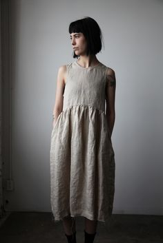 Irina Linen Dress - Natural | Ovate