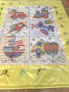 Excited to share this item from my shop: Transportation Quilt Baby Blanket handmade cross stitch Quilted Baby Blanket, Flannel Blanket, Elephant Quilt, Baby Elephant, Tie Quilt, Burp Cloths, Baby Quilts, Quilt Blocks, Quilt Patterns