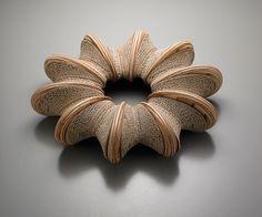 Choonsun Moon    cardboard and wood bracelet