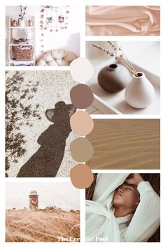 A feminine mood board inspired by warm brown tones   An earth tone brown, beige and eggshell white color scheme perfect for your next branding project   Follow for more inspiration!   #brandcolors #colorinspiration #moodboard #branding #design Earth Colour Palette, Beige Color Palette, Earth Tone Colors, Earth Tone Decor, Website Color Palette, Earth Tones, House Color Palettes, Warm Color Palettes, Vintage Color Palettes