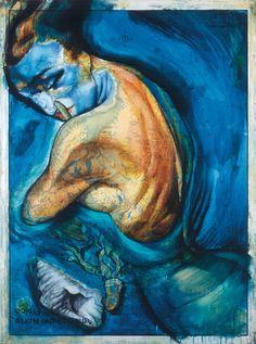 "Fernando Vicente (Spanish): Painting, ""North American Bather"" from the ""Atlas"" Series The Atlas, Geography, Plasma, Painting, Art Ideas, Spanish, Maps, Antigua, Art"