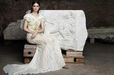 Uno scatto della campagna pubblicitaria di #LauraBiagiotti realizzata nella splendida cornice dei Mercati di Traiano
