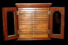 Collectors cabinet with 16 drawers & fittings for coins 34 x 40…