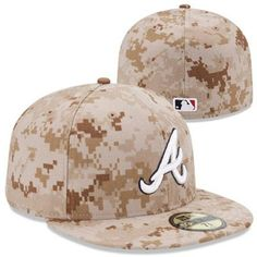 New Era Atlanta Braves 2013 Memorial Day Stars & Stripes 59FIFTY Fitted Hat - Digital Camo