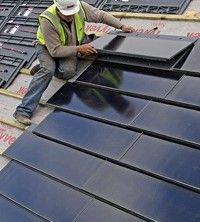 Solar Roof Tiles - Look much better than normal bulky solar panels!