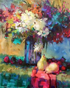 So Many Flowers by Trisha Adams Oil ~ 30 x 24