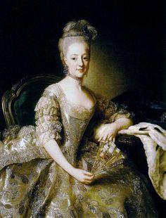 Hedvig Elisabeth Charlotte, Princess of Holstein-Gottorp, 1774 | 1774 Princess Hedvig Elisabeth Charlotta by Alexander Roslin (location ...