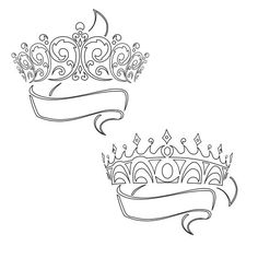 the bottom one w/ Brandons name   Tattoos   Pinterest   Crown ...
