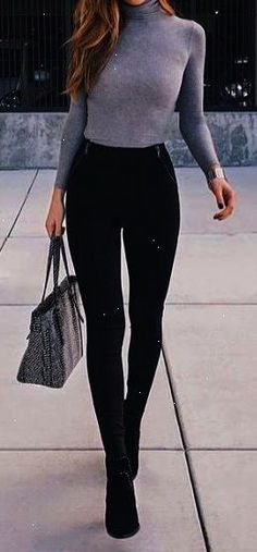 10 winter outfits ideas to fall fashion Mode femme Winter Outfits 2019, Fall Outfits For School, Casual Winter Outfits, Stylish Outfits, Autumn Outfits, Spring Outfits, Classy Outfits, Casual Pub Outfit, Purple Fall Outfits