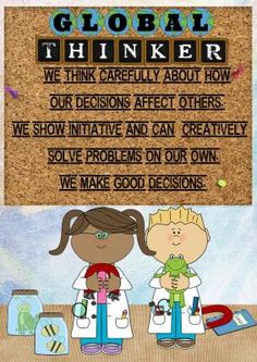These posters would work so well in the PYP classroom!