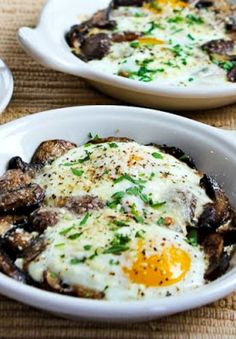 This simple-but-delicious recipe for baked eggs with mushrooms and Parmesan would be a great idea for breakfast on Valentine's Day! The recipe can be low-carb, Keto, and gluten-free if you skip the toast, and it's delicious any way you eat it. Use the Recipes-by-Diet-Type Index to find more recipes like this one. Click here to PIN Baked Eggs …