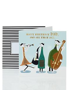 Dad All That Jazz Birthday Card