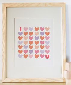 Look at this I Love You Print on #zulily today!