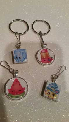 Shopkins Necklace Key Chain Zipper Pull Coupon Code on site Shopkins Ideas, 7th Birthday, Birthday Parties, Emma Love, Moose Toys, Lol Dolls, Keychains, Manualidades