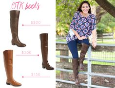 Over the knee boots (OTK) for Fall. Guide to picking the right OTK booths for Fall and outfit ideas.