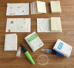 How to make school book sandwiches.