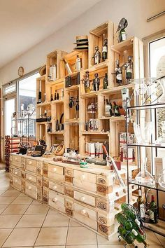 pallets and fruit crates shelving plan