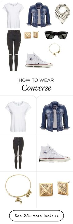 Sans titre #201 by carolinedevauchelle on Polyvore featuring Cheap Monday, maurices, Ray-Ban, Burberry, Converse, Alex and Ani and Topshop