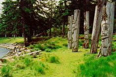 Totems in Haida Gwaii, Canada. One of the most spectacular places to visit in the world / www.wildcanadasalmon.com / Contact us @ info@wildcanadasalmon.com to receive your **20% OFF E-Coupon**