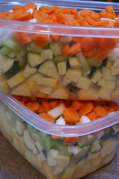 Zucchini Freezer Soup... good for a quick go to meal!