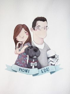 Ilustración personalizada.  lessiamoises.com