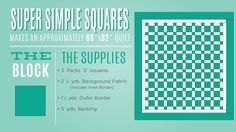 New Friday Tutorial: The Super Simple Squares Quilt | The Cutting Table Quilt Blog | Bloglovin'