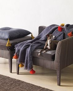 Pillows and Blankets with Twisted-Cord Tassels