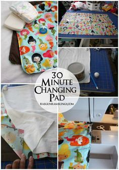 DIY changing pad without all the bulk that's all washable.  Mine worked out wonderfully! Great super beginner sewing project!