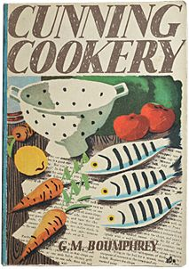 Cunning Cookery, 1938 - those British designers were so good! Retro Illustration, Food Illustrations, Vintage Book Covers, Vintage Books, Cookbook Cover Design, Cookery Books, Vintage Cookbooks, Album Book, You Draw