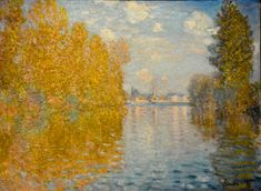 Claude Monet - Autumn Effect at Argenteuil, 1873 at The Courtauld Art Gallery at Somerset House London England