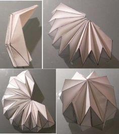 Desarrollo cúpula origami