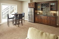 Another great view of this house bar. Made By: Lakeside Cabinets and Woodworking