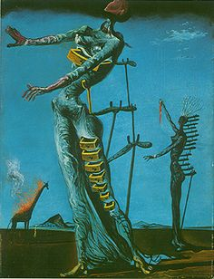 And the inspiration for the previous pin. Dalí woman with drawers from his burning giraffe painting.