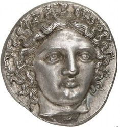 Tetradrachm from Pheneos in Arcadia, c. BCE, showing Demeter. Electrum coin from Phokaia in Ionia, 468 BCE. Some of these coin. Mens Silver Jewelry, Electrum, Coin Design, Coin Art, Gold And Silver Coins, Africa Map, Greek Art, Rare Coins, Half Dollar