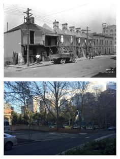 Goulburn Street Surry Hills looking south-west from approximately the corner of Pelican Street 1928 > 2015 (City of Sydney Archives > Lance Carden. By Lance Carden) Sidney Australia, Surry Hills, Historical Architecture, Amazing Pics, Then And Now, Surrey, Historical Photos, Old Photos, Corner